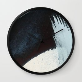 Like A Gentle Hurricane [2]: a minimal, abstract piece in blues and white by Alyssa Hamilton Art Wall Clock