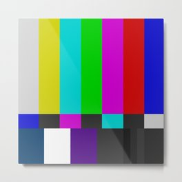 NTSC Color Bars Metal Print