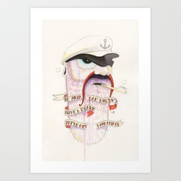 If your dad doesn't have a beard you've got two mums Art Print