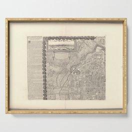 Jacques Gomboust - Map, Plan and Descriptions of Paris, Northwest (1652) Serving Tray