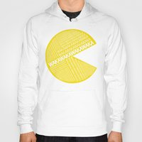 pac man Hoodies featuring Pac-Man Typography by Kody Christian