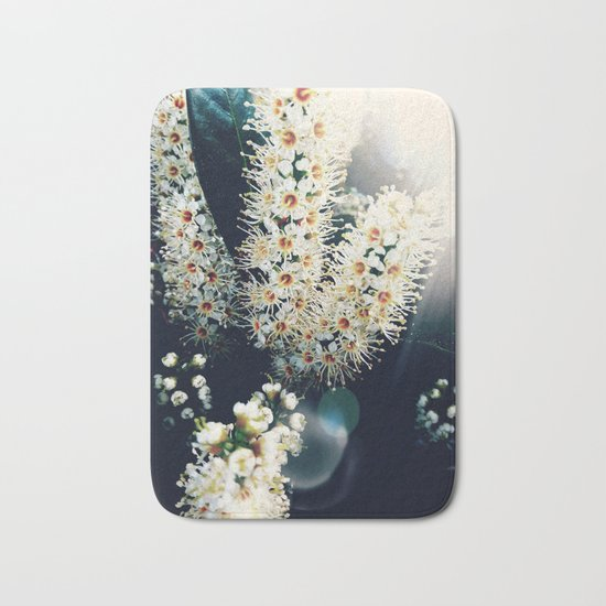 Sunlight On Laurel Blossoms Bath Mat
