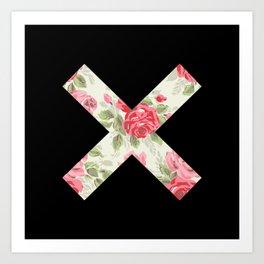 X Floral   X Art Print