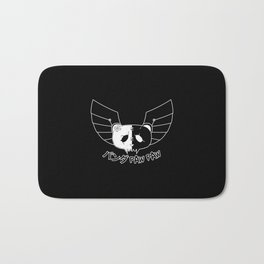 Panda Paw Paw Winged Bison Design (Black A) Bath Mat