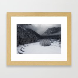 Snowy Morning Framed Art Print