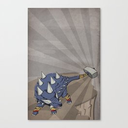 Ankylothorus - Superhero Dinosaurs Series Canvas Print