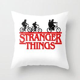 Stranger Things Bike Throw Pillow