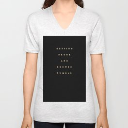 getting drunk and browse tumblr Unisex V-Neck
