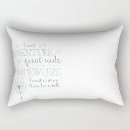 Great Wide Somewhere Rectangular Pillow