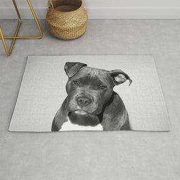 Pit bull - Black & White Rug