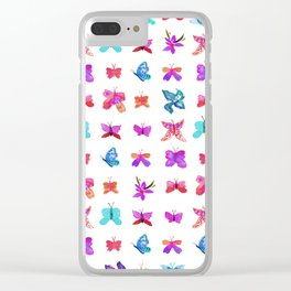 Teeny Butteflies Clear iPhone Case