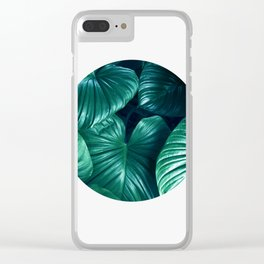Plant collage XII Clear iPhone Case