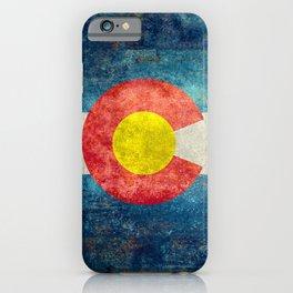 Grungy Colorado Flag iPhone Case