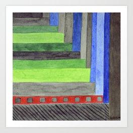 The Red Threshold  Art Print