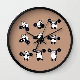 Olympic Lifting Panda Wall Clock
