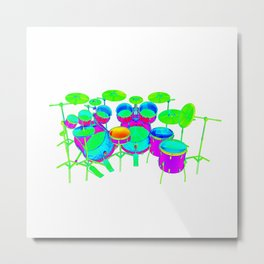Colorful Drum Kit Metal Print