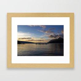 Sunset Lake Annecy Framed Art Print