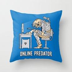 Online Predator Throw Pillow