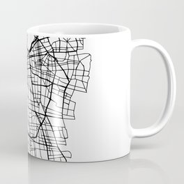 SANTIAGO DE CHILE BLACK CITY STREET MAP ART Coffee Mug