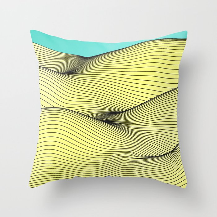 Yellow Landscape Throw Pillow