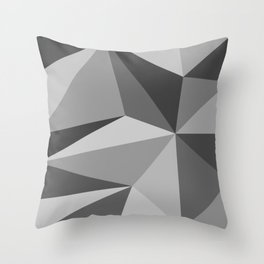Different shades of Grey Throw Pillow