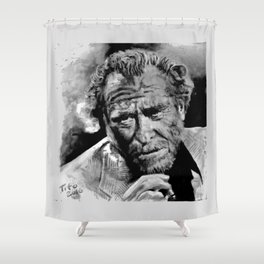 BUKOWSKI - people quote Shower Curtain