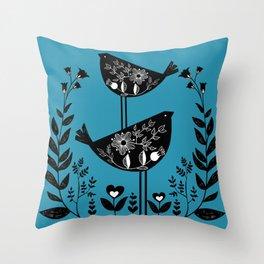 Danish Birds Bring Good Luck And A Good Life Throw Pillow