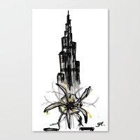 wiz khalifa Canvas Prints featuring Burj Khalifa by sladja