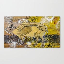Pig Skeleton Canvas Print