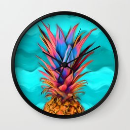 Colorful Pineapple, Ananas fruit Wall Clock