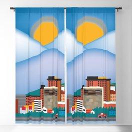 Anchorage, Alaska - Skyline Illustration by Loose Petals Blackout Curtain