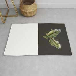 Two Largemouth Bass - Above And Below Rug