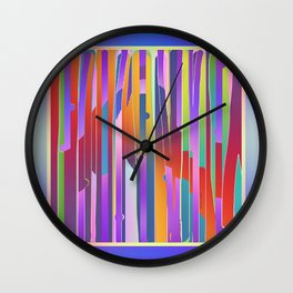 VERTICALS LINES AND STRIPES Wall Clock