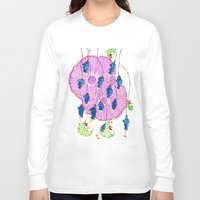 hibiscus Long Sleeve T-shirts featuring Hibiscus by Gosia&Helena
