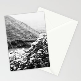 Black and white landscape Stationery Cards