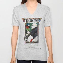 Nosferatu, Vintage Horror Movie Poster, color Unisex V-Neck