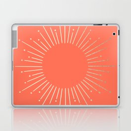 Simply Sunburst in Deep Coral Laptop & iPad Skin