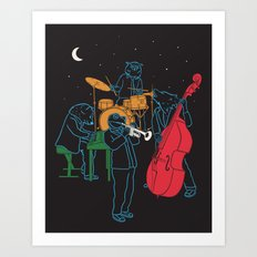 Animals plays Jazz Art Print