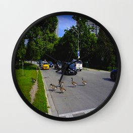 We Brake For Geese (Birds of Chicago Collection) Wall Clock