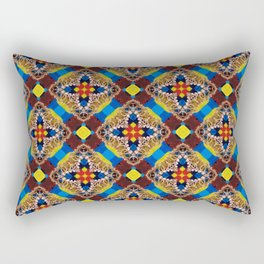Beautiful Bright Beadwork Inspired Print Rectangular Pillow