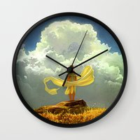 wind Wall Clocks featuring Wind by Artem Rhads Cheboha
