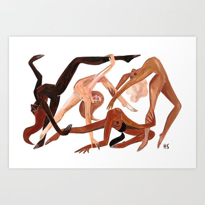 Together we dance Art Print