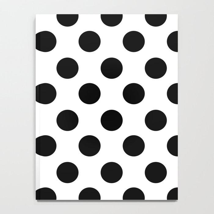 Black and White Medium Polka Dots Notebook