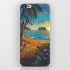 Retro Hawaii North Shore Travel Poster iPhone & iPod Skin