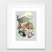 chihiro Framed Art Prints featuring Chihiro by Alba Palacio