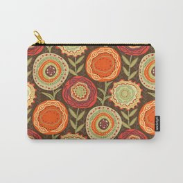 Fall Blooms Carry-All Pouch