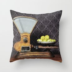 Apples on the Scale Throw Pillow