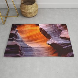 Inside Spectacular Red Rock Canyon Close-Up Art Photo Rug