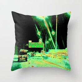 A Little Night Drive Throw Pillow