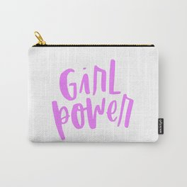 Girl Power 2 Pink and White Carry-All Pouch